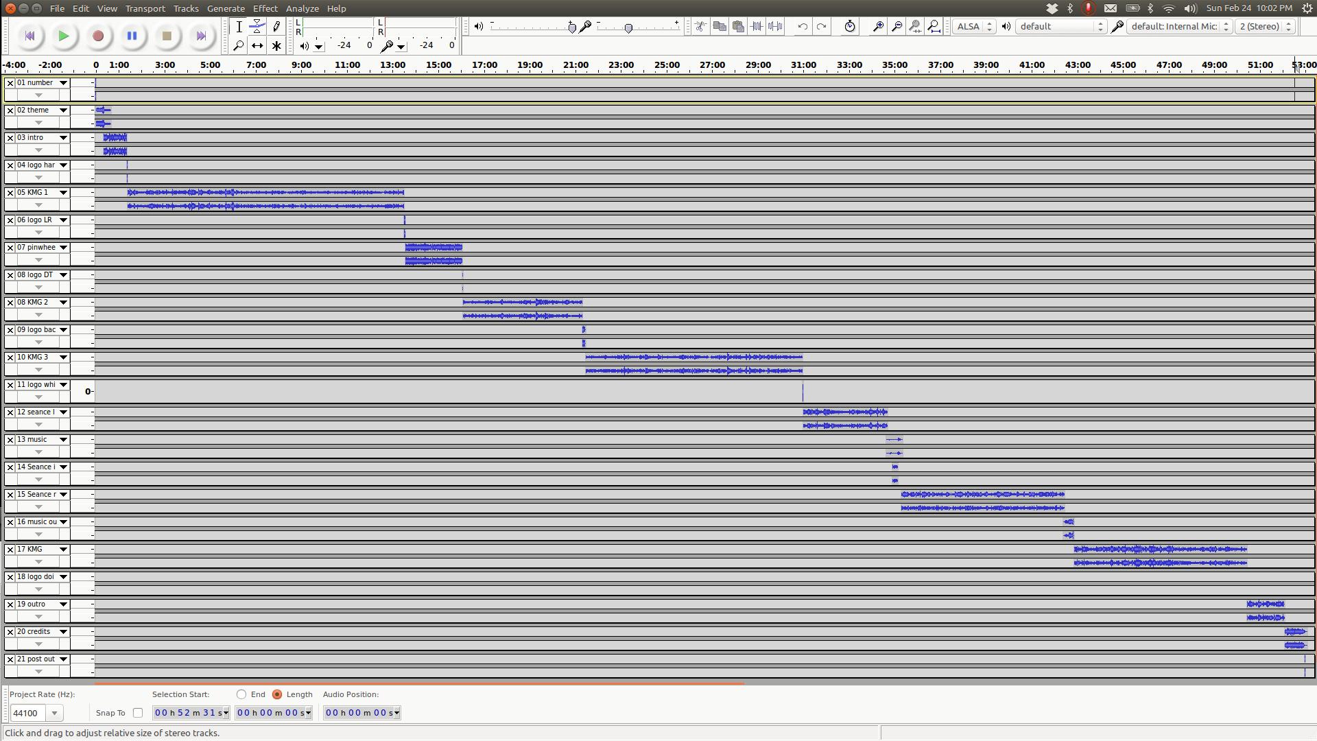 Editing Episode 7 in Audacity